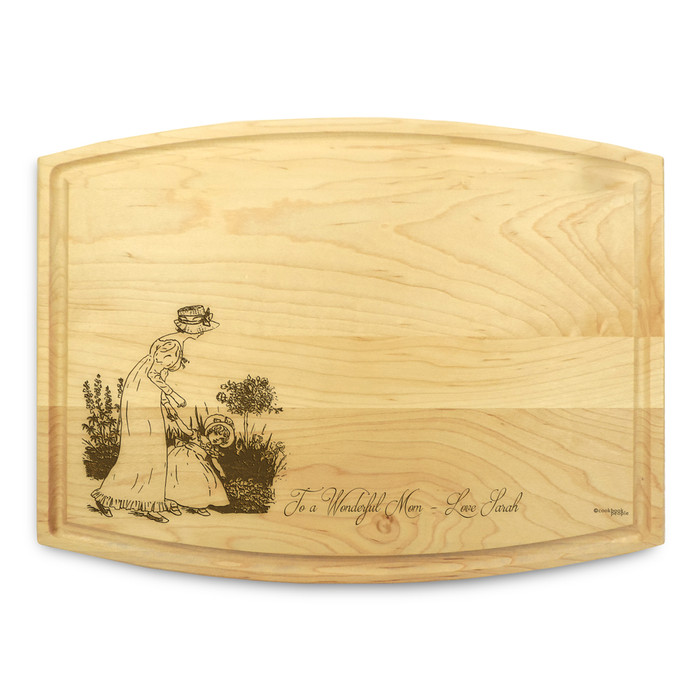 Mother Daughter 9x12 Grooved Engraved Cutting Board