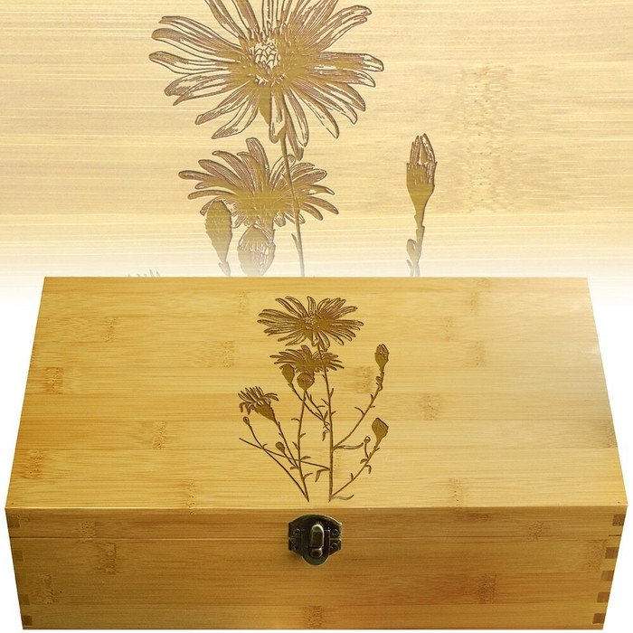 Flowers Aster Multikeep Box for Teas and Other Items