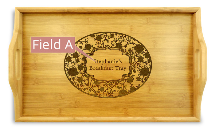 Petals Wood TV Tray