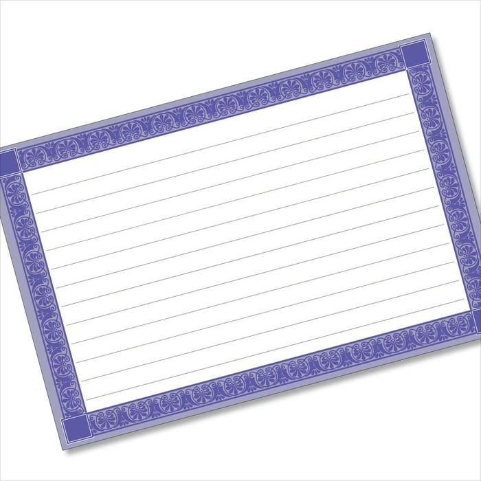 buy 4x6 recipe card online rectangle framed blue
