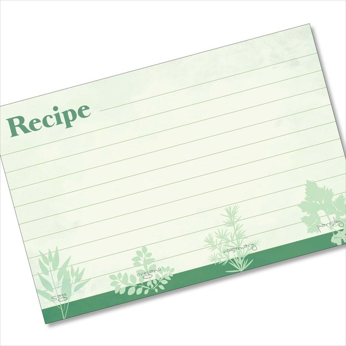 4x6 Recipe Card Favorite Herbs Green 40ea