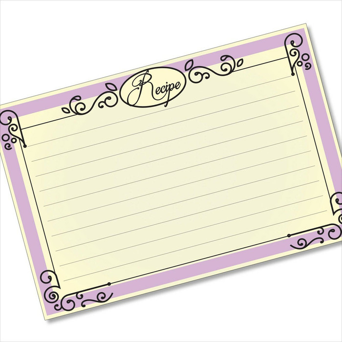 4x6 Recipe Card Ironworks Frame Purple 40ea