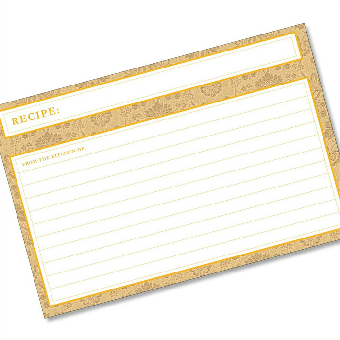 4x6 Recipe Card Agatha Marigold Honey Light Orange 40ea