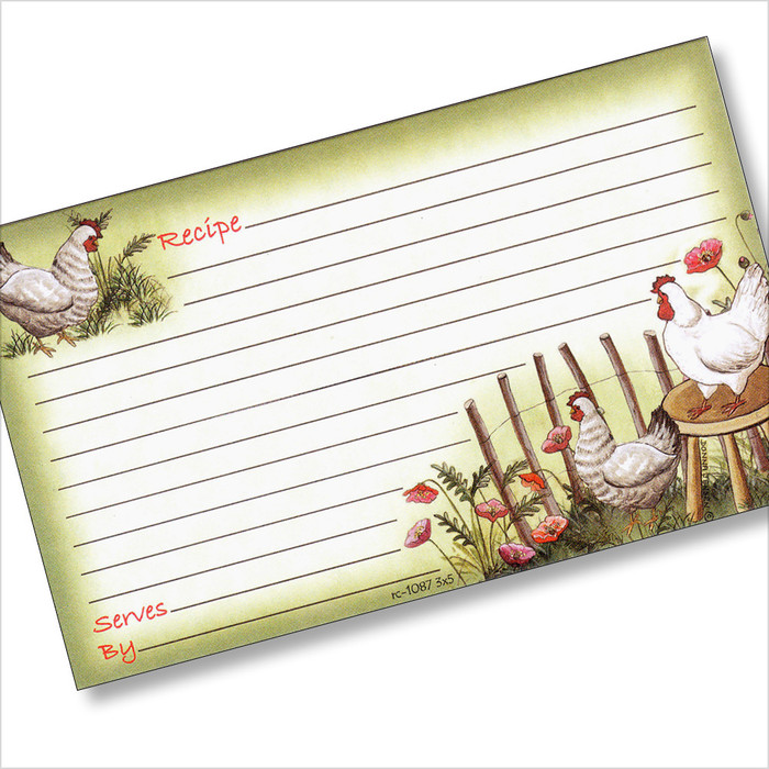 3x5 Chickens Out! Recipe Card