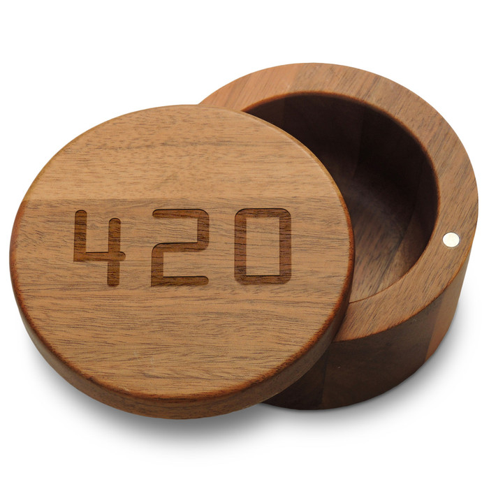 420 Stash Box with Magnetic Swivel Lid
