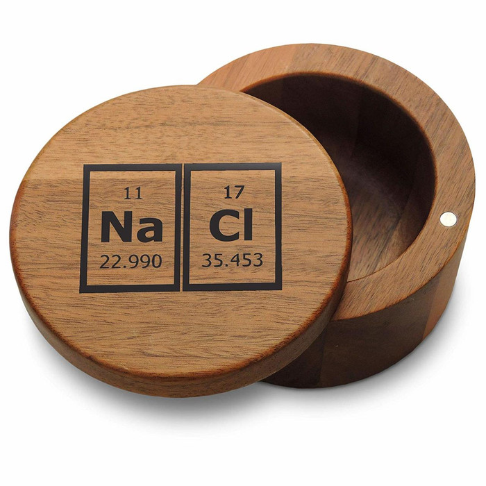 NACL Periodic Elements Sodium Chloride Breaking Bad Salt Box with Magnetic Swivel Lid