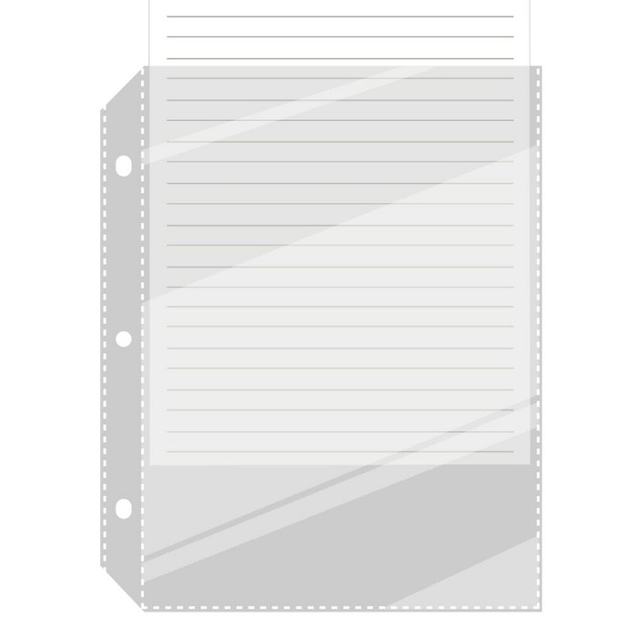 Half Page Sheet Protector for 3 Ring 5.5x8.5 Binder 50ea
