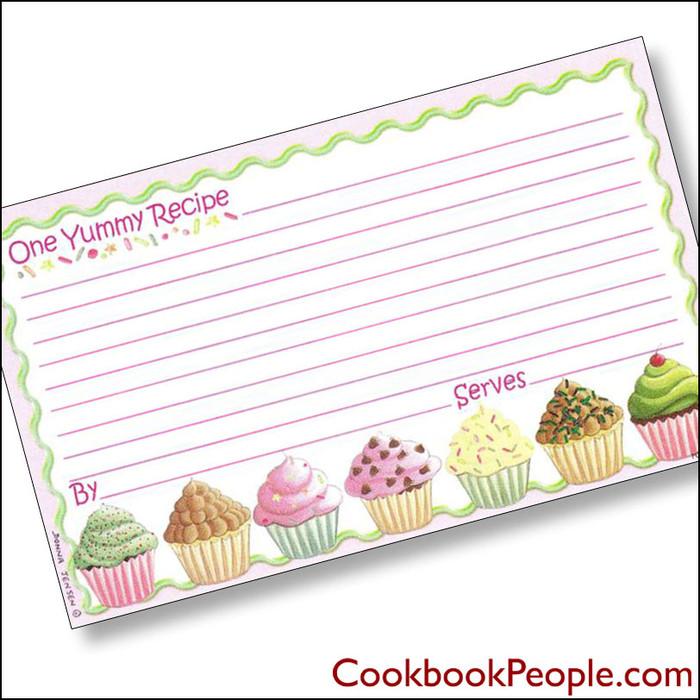 3 x 5 Why Not A Cupcake? Recipe Card
