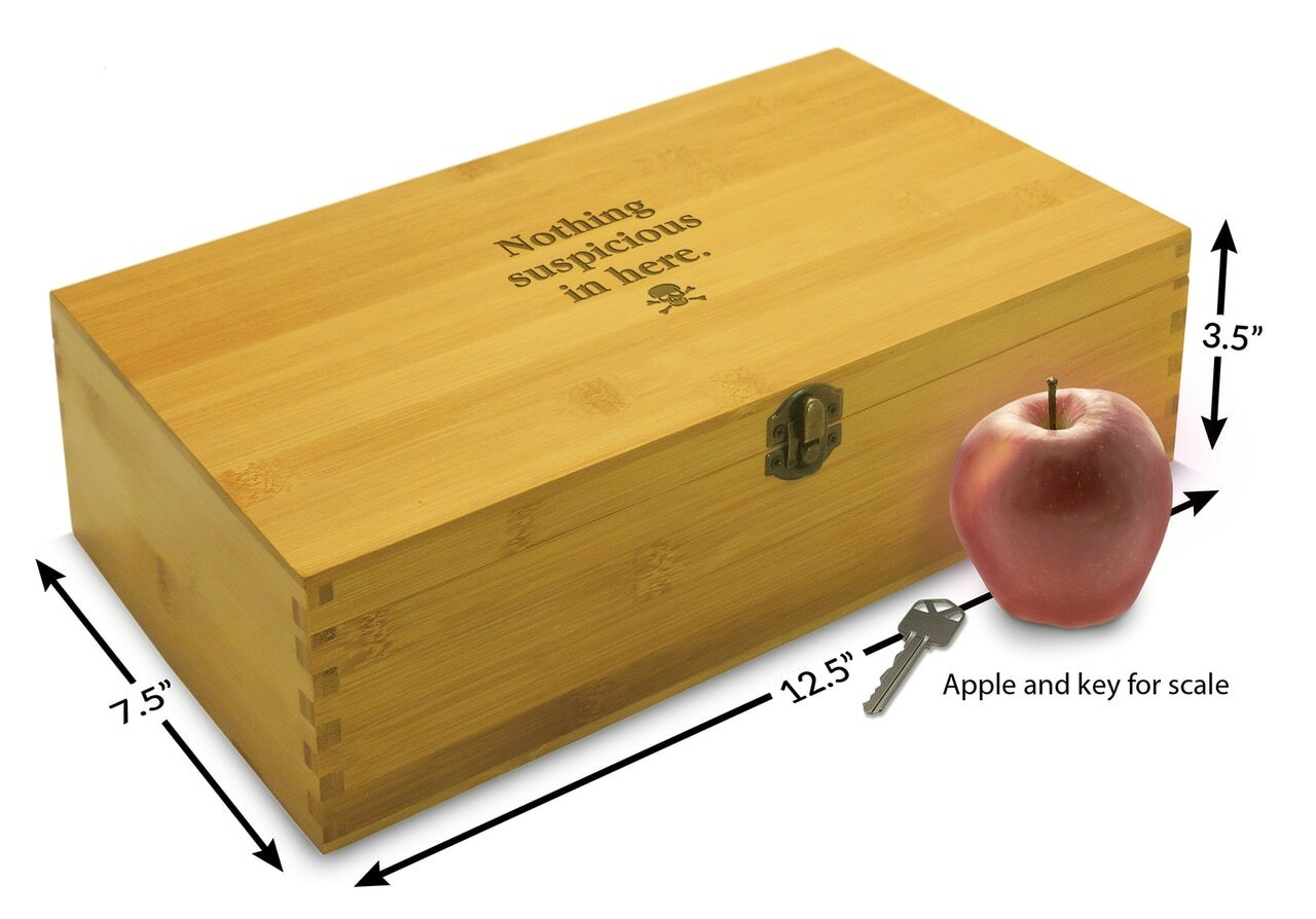 adjustable wooden gift box for men