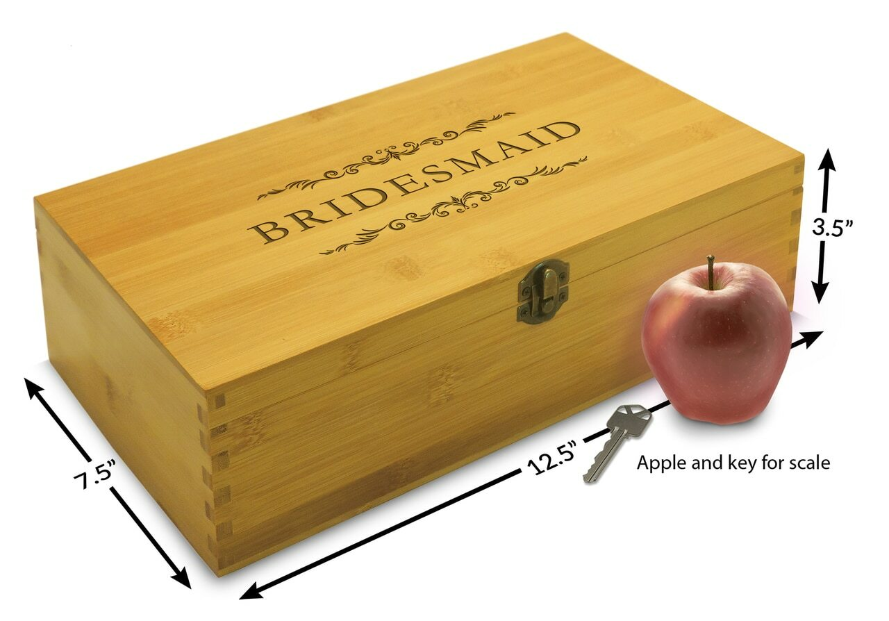 Bridesmaid wooden gift box