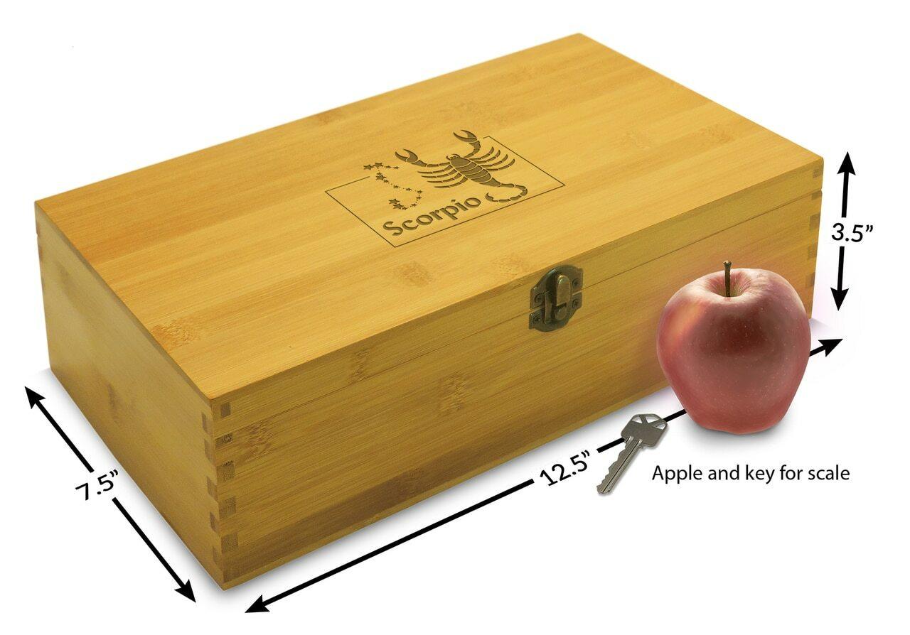 zodiac astrology wooden gift box