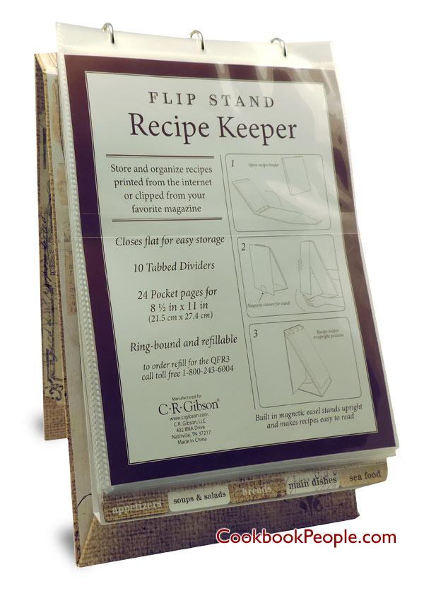 flip stand brown recipe binders