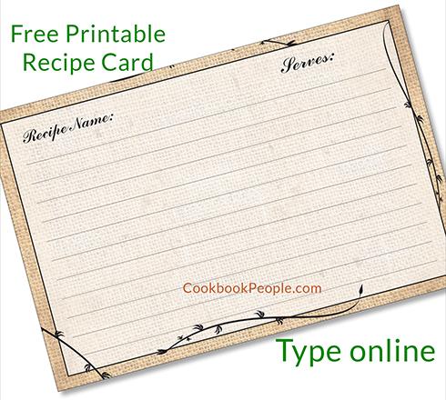 free recipe card