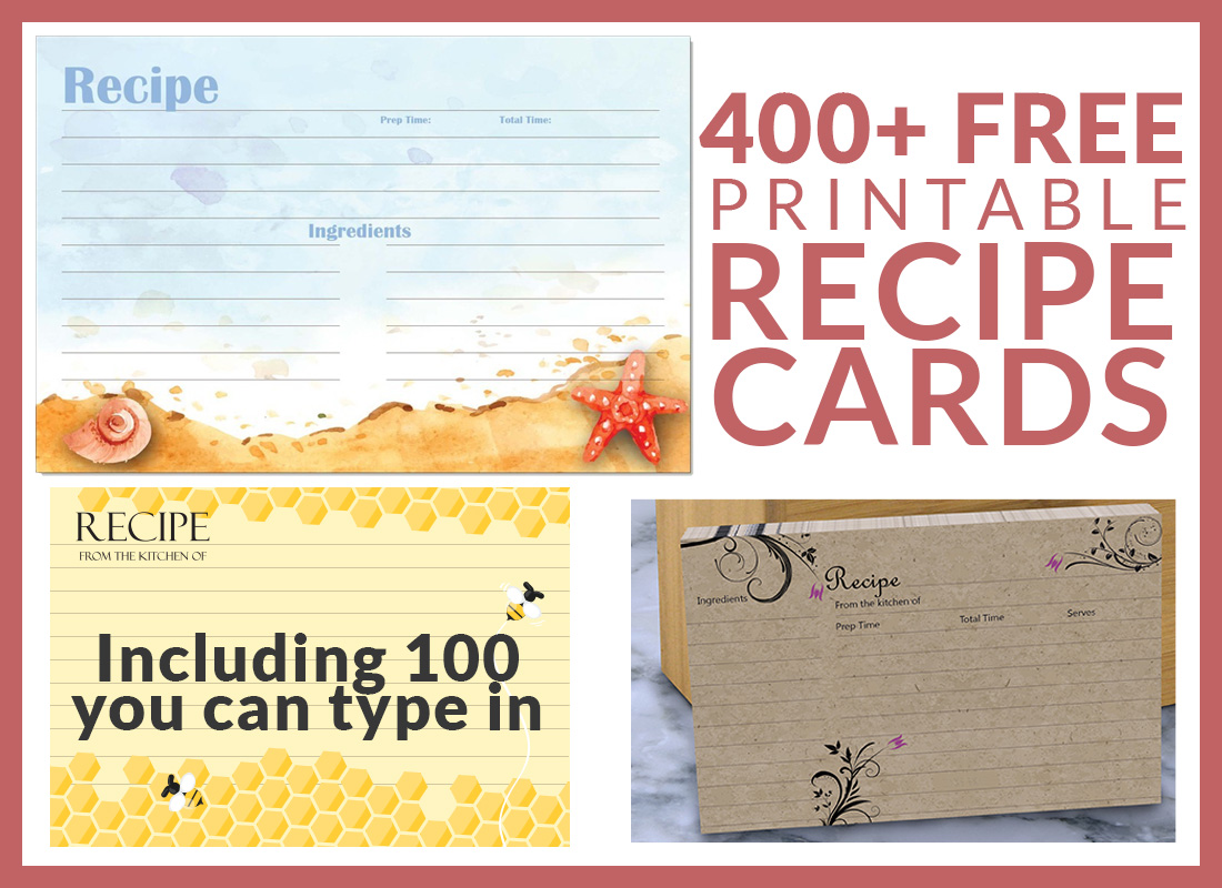 Free Recipe Cards Cookbook People