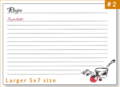 Best Selling Large Recipe Card