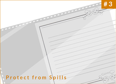 Protect recipe cards from spills