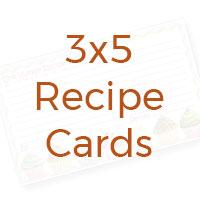 3x5 recipe cards