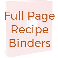 Full page recipe binders