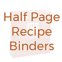 Half page recipe binders