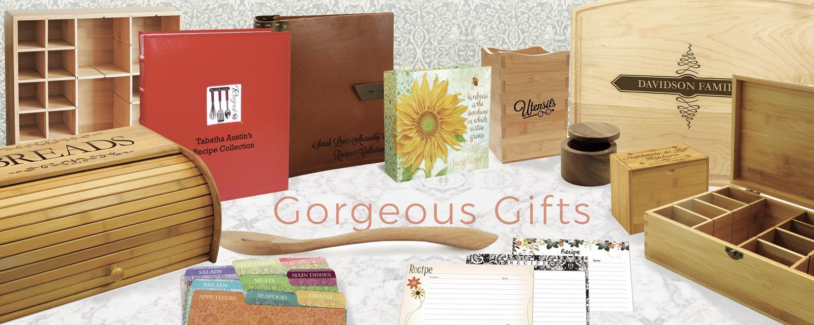Cookbookpeople Recipe Boxes, Recipe Cards, Tea boxes & More