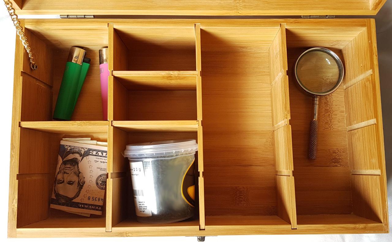 adjustable stash box