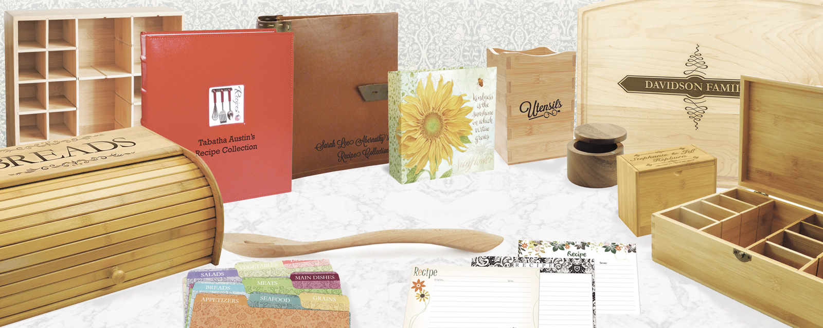 Cookbookpeople Recipe Boxes, Recipe Cards, Tea boxes & More