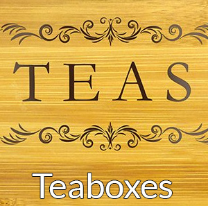 Tea organizer boxes