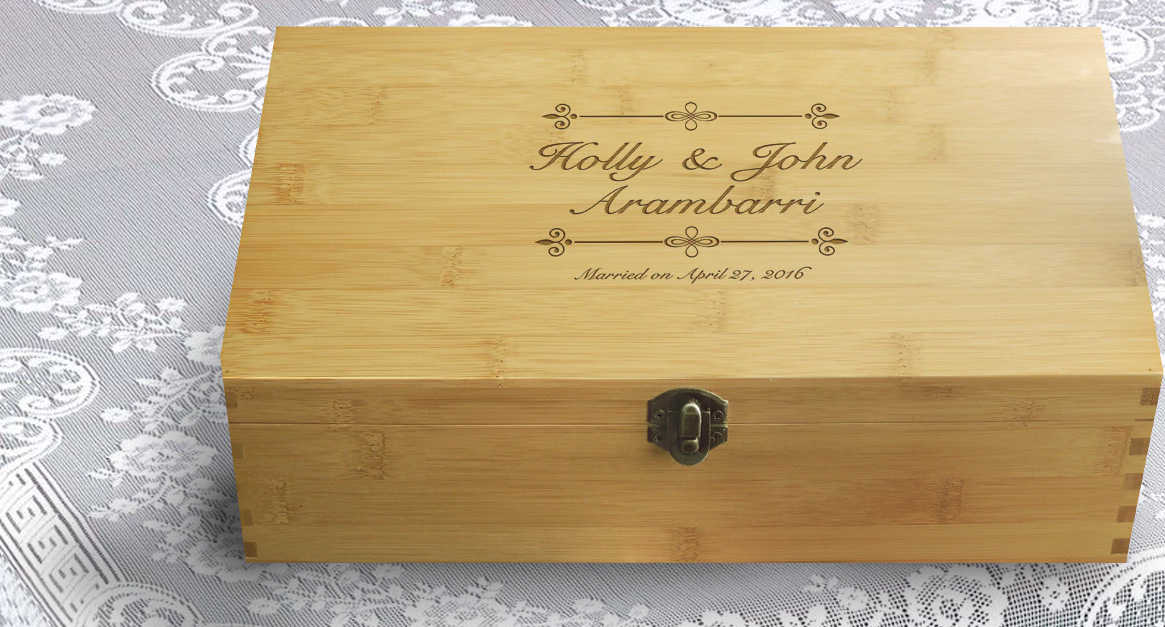 personalized bridal shower box