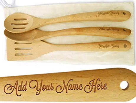Engraved Wood Spoons