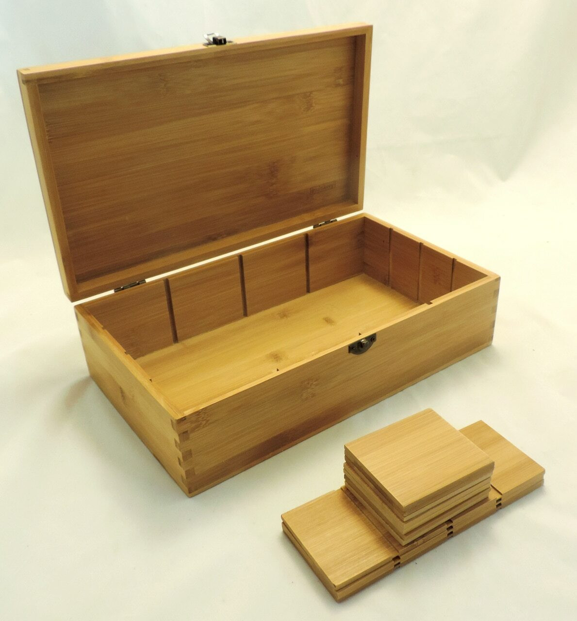 Bamboo Adjustable Tea Box No Engraving