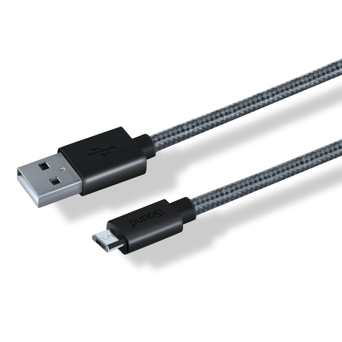 10 ft Braided Micro-USB Cable, black
