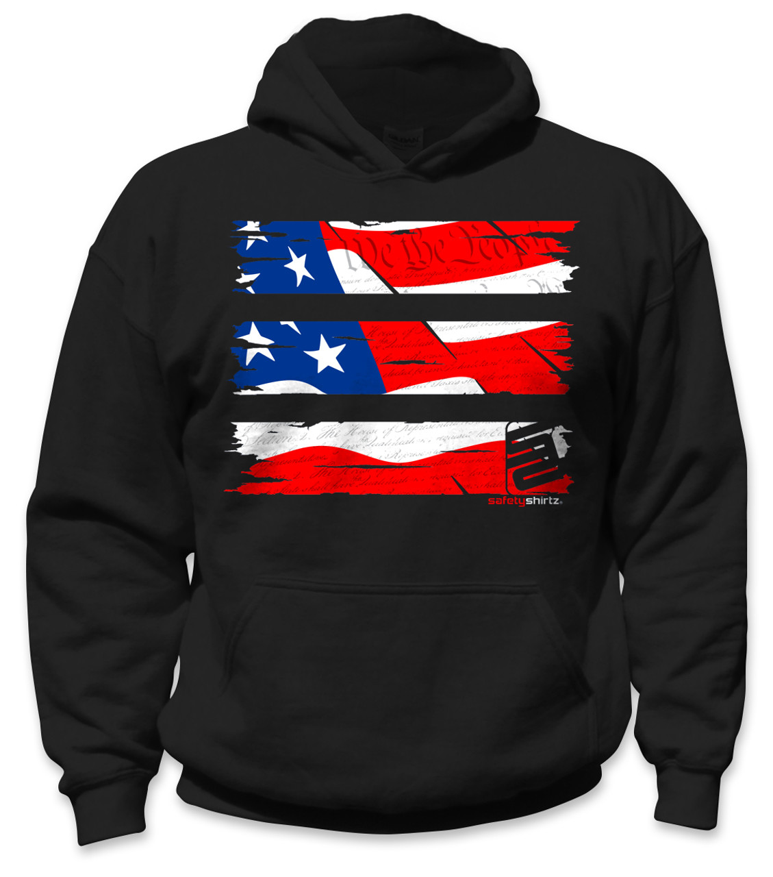022532cba SafetyShirtz - Youth Old Glory Safety Hoodie - Red/White/Blue/Black -  Safetyshirtz