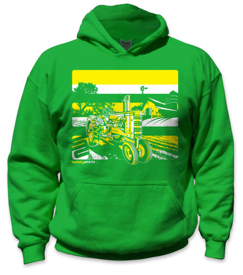 db6a34102 SafetyShirtz - Youth Tractor Safety Hoodie - Yellow/Green