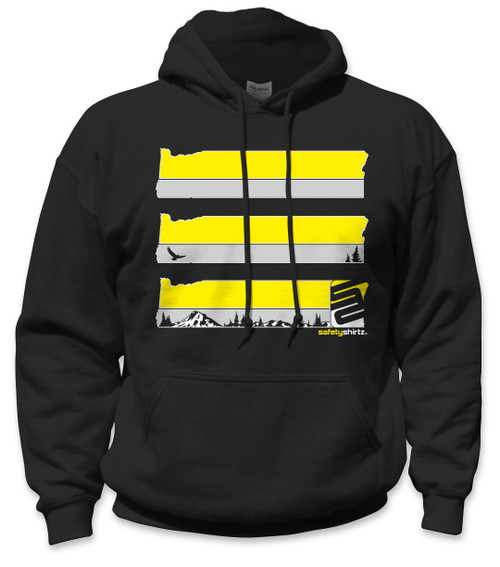 af1b4964b SafetyShirtz - Oregon Safety Hoodie - Yellow/Black - Safetyshirtz