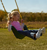 Lifestyle view of Heavy Duty Swing Seat with Chains from Swing-N-Slide