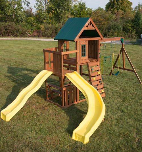 Cedar Brook Backyard Play Set With Monkey Bars Rockwall Wood