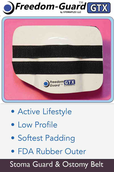 Freedom-Guard GTX , Stoma Guard  with Stomaplex Ostomy Belt, Stoma Protector
