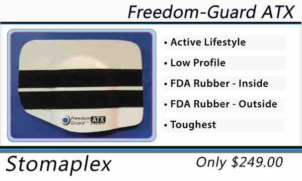 All Stomaplex Stoma Guards include an ostomy belt. See the size chart for a guide to size the stoma guard to your ostomy.