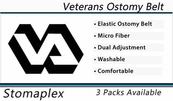 Veterans are eligible to receive their ostomy protection from Stomaplex through their VAMC. Contact your ostomy nurse. See the size chart to order the correct size stoma guard and ostomy belt.