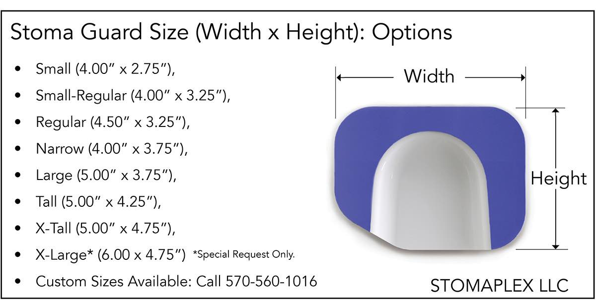 Stoma Size Chart, Ostomy Belt