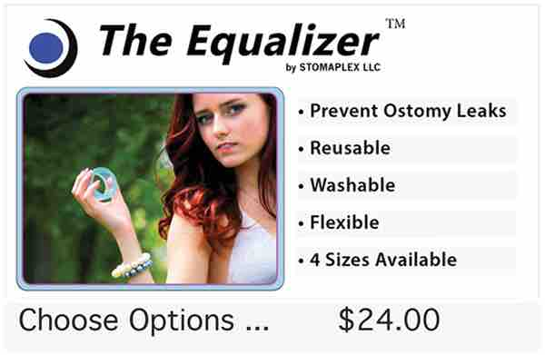 The Equalizer is a tool to apply pressure on the skin barrier when it is first adhered to the skin. The pressure from the Equalizer will help improve the bond.