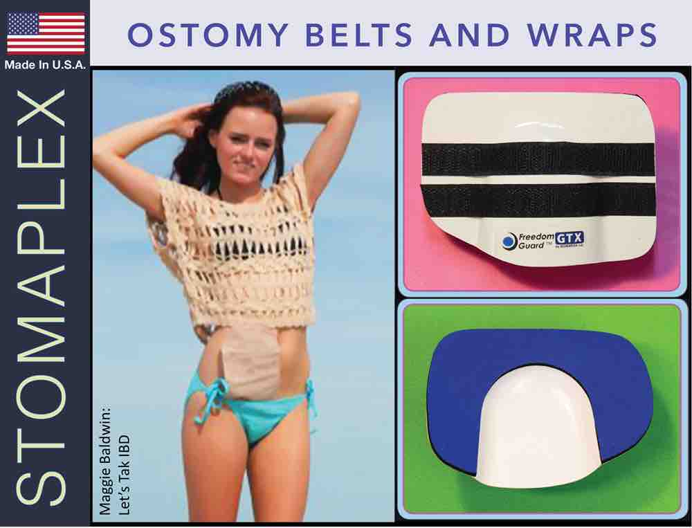 Ostomy Belts and Wraps, by Stomaplex Ostomy Belts, ostomy blue jean wrap, ostomy women, ostomy swim wrap