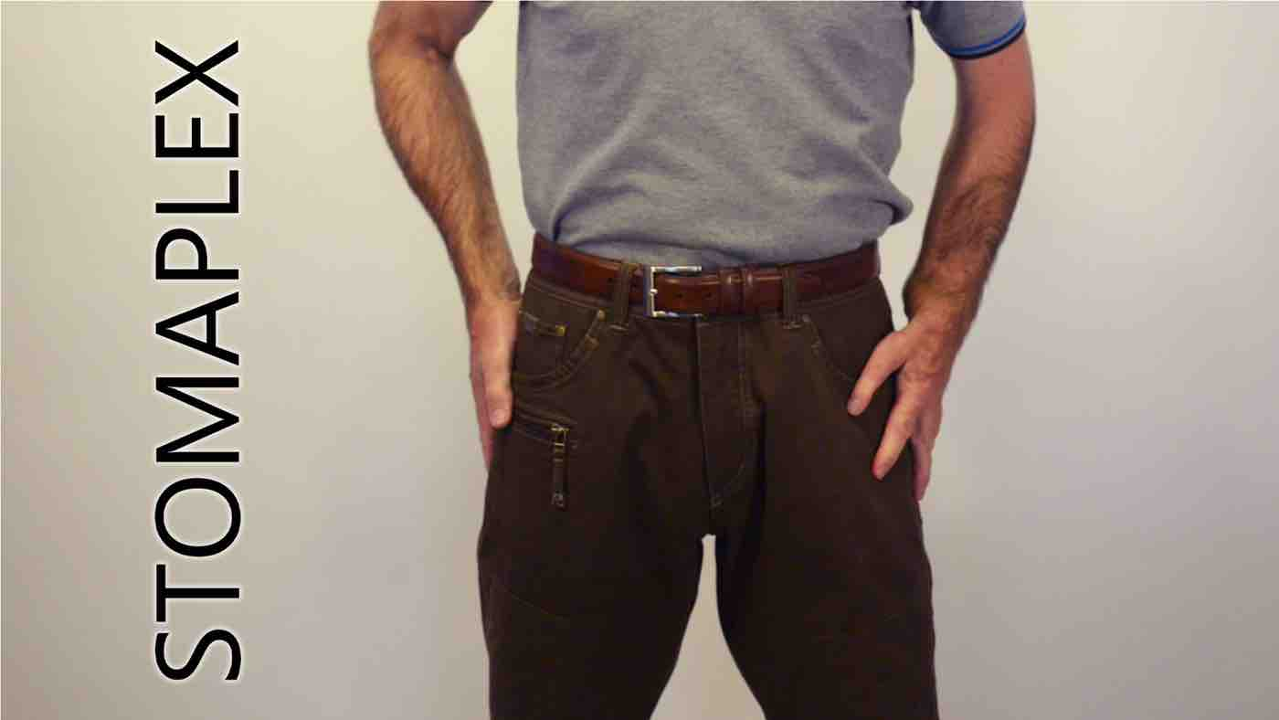 stoma guards help men tuck in their shirts, stomaplex