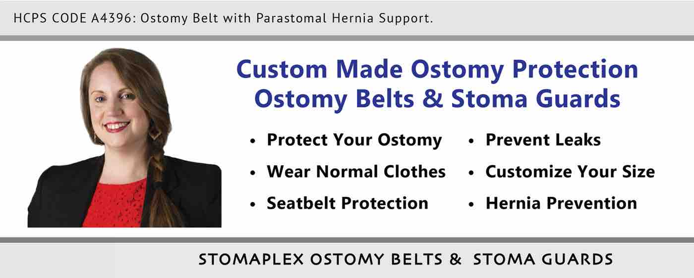 At Stomaplex you will find a wide variety of stoma guard sizes and ostomy belts the vary in length. The Stomaplex ostomy belt is recommended by nurses and athletes who want to protect their ostomy. All stoma guards come included with an ostomy belt. Choose from either the standard ostomy belt or the parastomal hermia ostomy belt