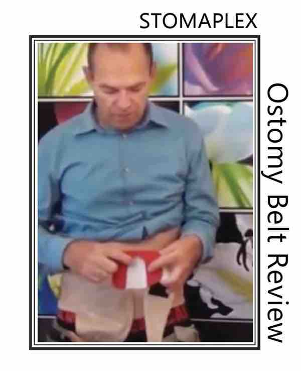 Wear jeans and pants with an ostomy support belt for colostomy.