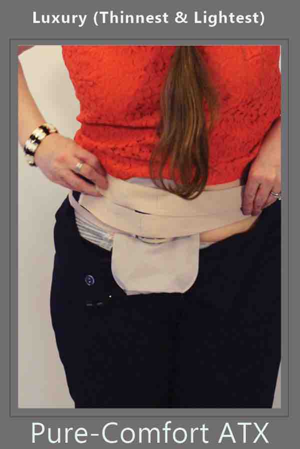 the last strap of ostomy lingerie pantes is attached to the ostomy belt