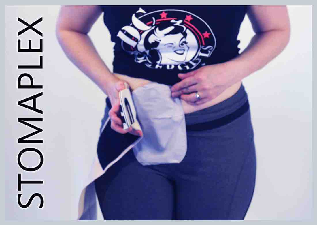 Best ostomy support belt for women by Stomaplex stoma guard, ostomy protection for the best ostomy flow, free flow for a healthy stoma is important, women with ileostomy has ostomy bag