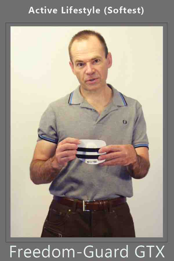 man with ostomy belt and an ostomy guard attached for ostomy protection by stomaplex