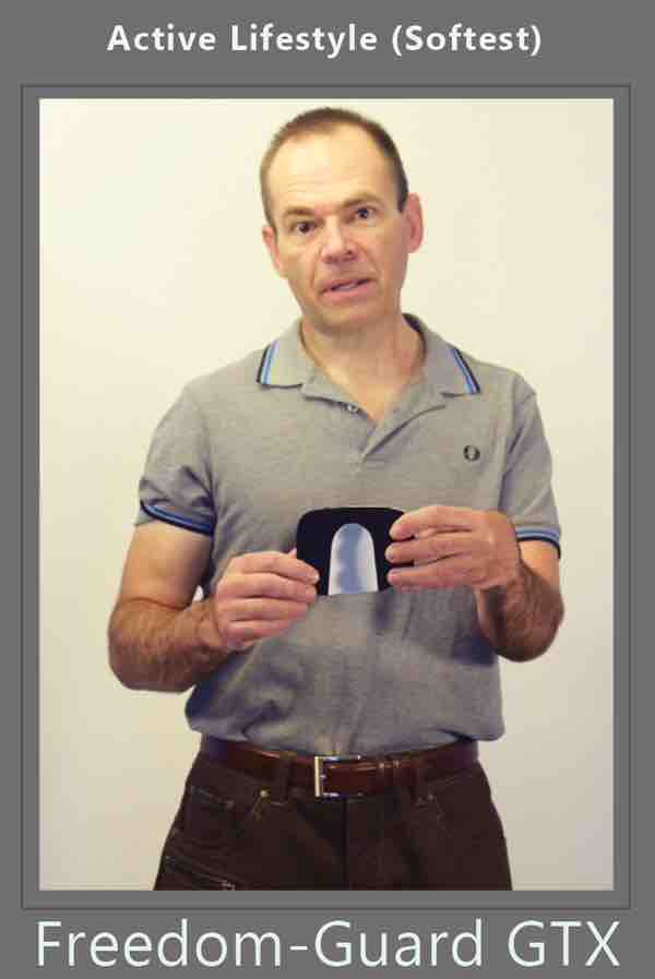 ostomy belt with stoma guard attached for ostomy protection for free flow from ileostomy