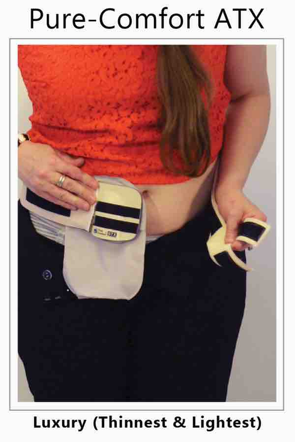 The stoma guard is great for women who work in the office and wear dress clothing with an ostomy, womens ostomy clothing